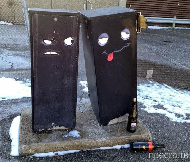 Креативные монстры на улицах Торонто (5 фото)