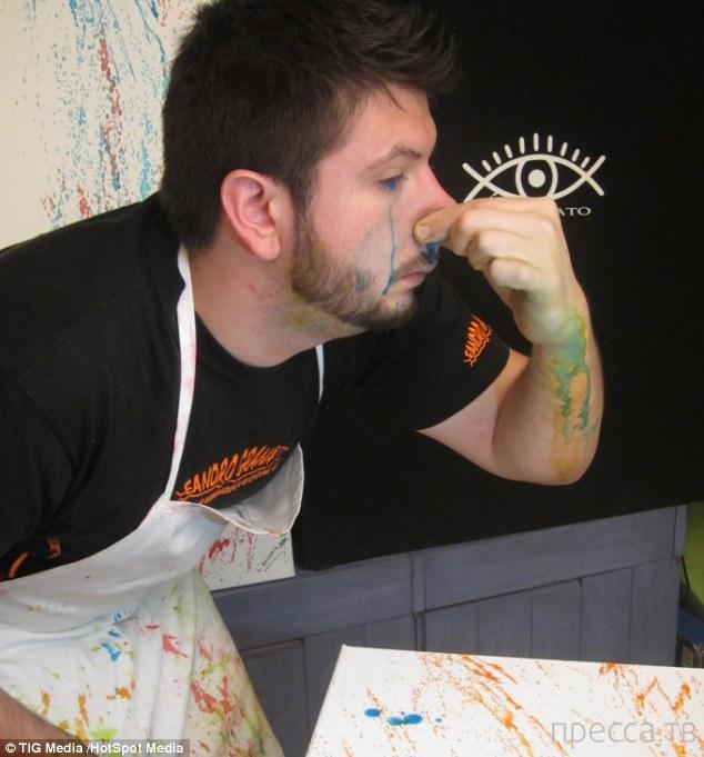 Аргентинский художник Гранато Леандро пишет картины глазами (6 фото)