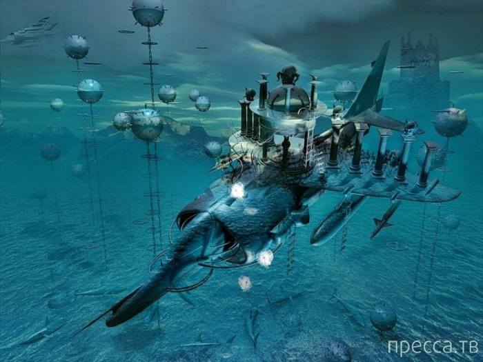 Сюрреалистические миры от George Grie (15 фото)