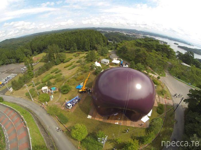 Первый в мире надувной концертный зал в Японии (9 фото)