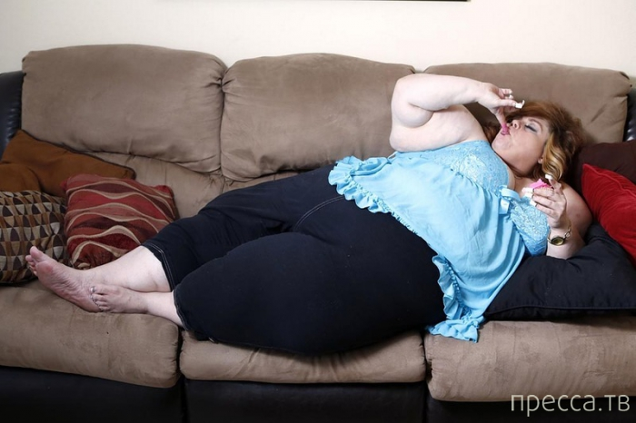 Американка Сэмми Мэтьюс одержима страстью к еде (6 фото)