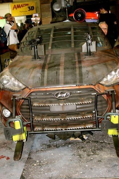 Hyundai Veloster-Zombie Killer Edition - автомобиль против зомби (5 фото)