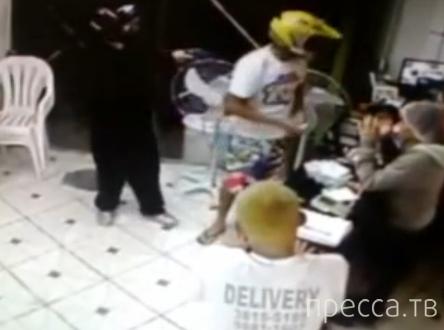 Пытались ограбить пиццерию... Бразилия