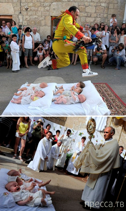Топ 8: Самые причудливые религиозные обряды (8 фото)