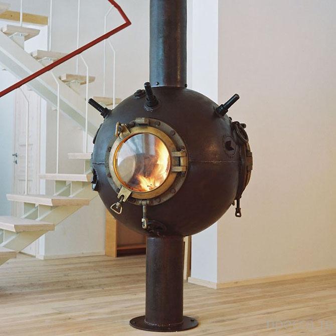 Необычный креатив: Мебель из старых морских мин (11 фото)