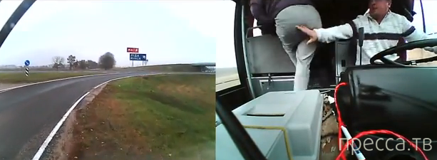 Лобовое столкновение «Опеля Калибра» с рейсовым автобусом «МАЗ» на развязке автодороги Минск-Гродно