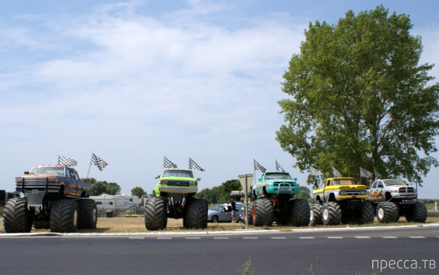 Ну, очень большие колеса (35 фото)