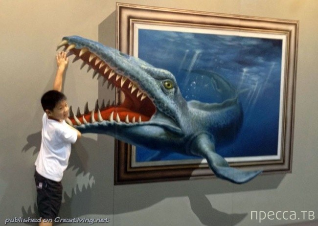 Интерактивные картины в китайской галерее (33 фото)