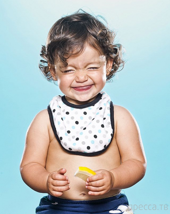 Забавные фотографии - Дети и лимон (19 фото)