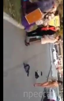 Обнаженная дама устроила стриптиз на улице... г. Находка