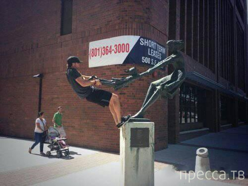 Приколы со статуями (16 фото)