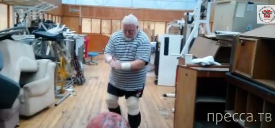 Дикуль поднял камень 160 кг в 75 лет