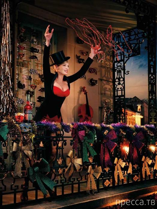 Ума Турман в календаре Campari (12 фото)