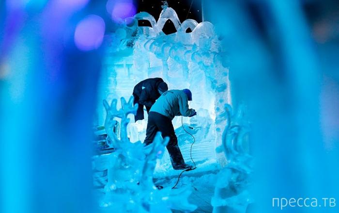 Фестиваль снежной и ледовой скульптуры в Брюгге (9 фото)