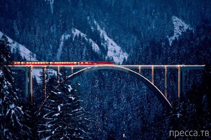 Необычная Ретийская железная дорога (8 фото)