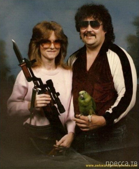 Нелепые фотографии американских семей (23 фото)