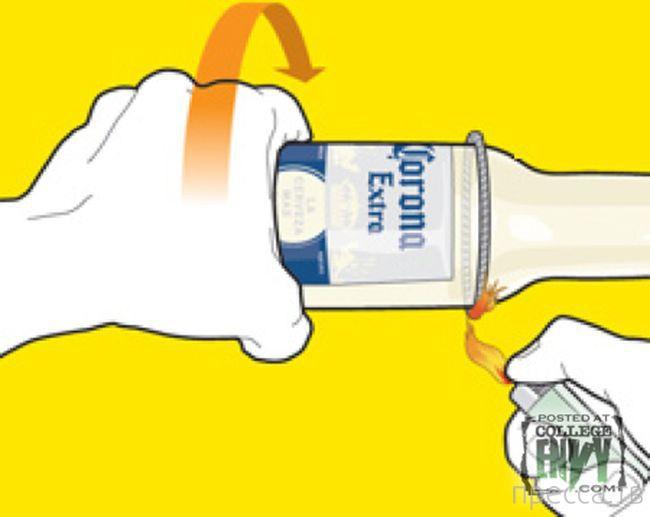 Стакан из стеклянной бутылки своими руками (6 фото)