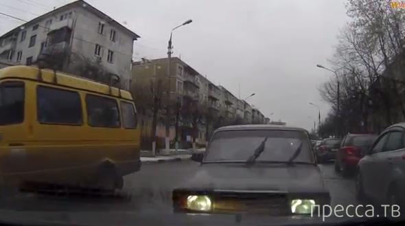 Внезапное лобовое столкновение в г. Серпухов