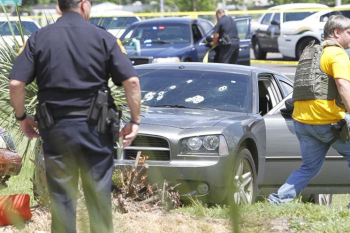 Полицейская погоня за насильником... г. Тамп, штат Флорида, США