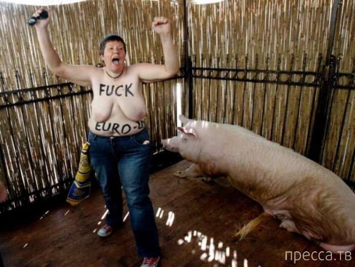 """Акции гологрудых секстремисток """"Femen"""" (11 фото)"""