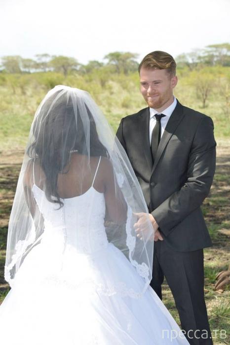 Прикольная фотоистория одной африканской свадьбы (18 фото)