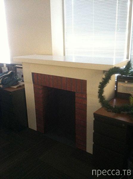 Как быстро и недорого соорудить дома новогодний камин (13 фото)