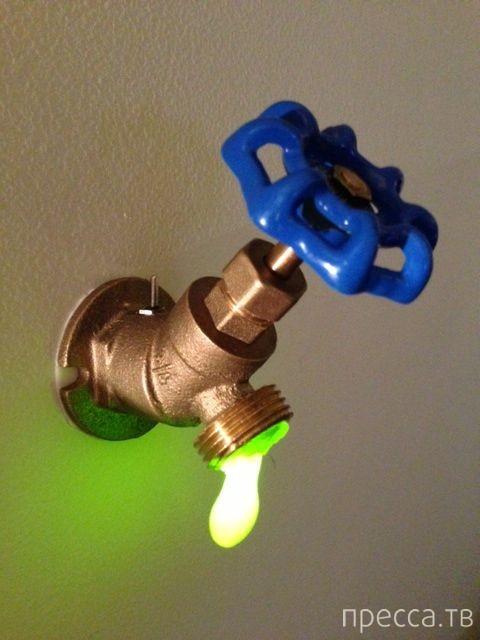 """Как сделать лампу """"токсичная утечка"""" своими руками! (10 фото)"""