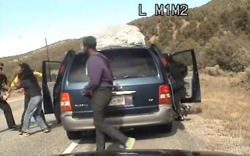 Полицейский остановил за превышение скорости... ДТП в г.Санта-Фе, штат Нью-Мексико, США