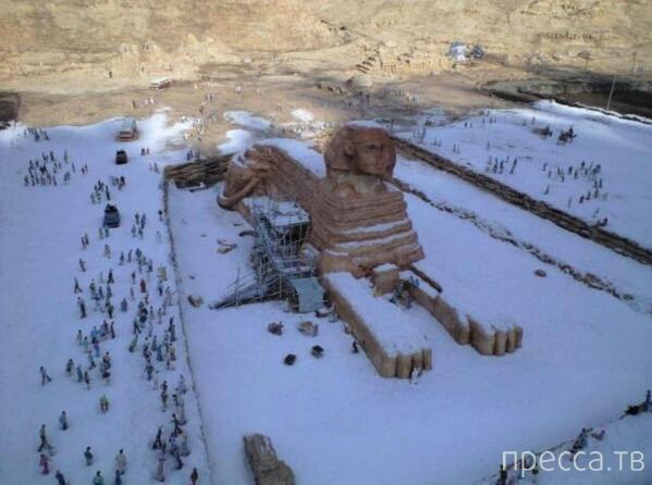 В Египте впервые за 120 лет выпал снег (13 фото)