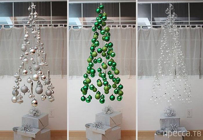Креативные идеи для новогодних елок (18 фото)