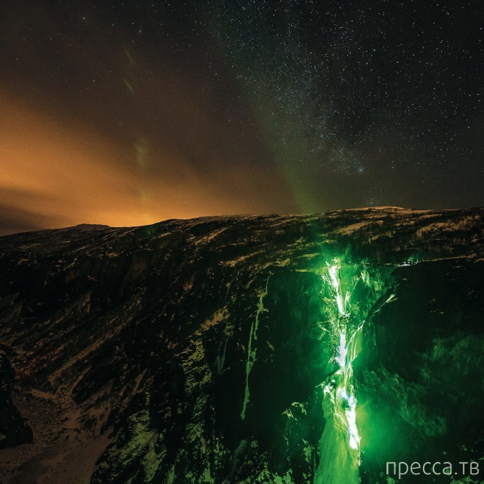 Покорение водопадов в Норвегии (7 фото)