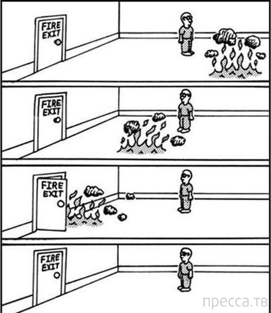 Веселые комиксы и карикатуры, часть 54 (16 фото)
