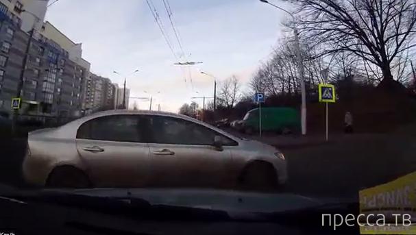 Не проскочил... ДТП на ул. Могилевская, г.Минск