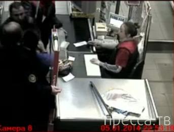 Пьяный гастарбайтер напал на девушку-кассира... г. Челябинск