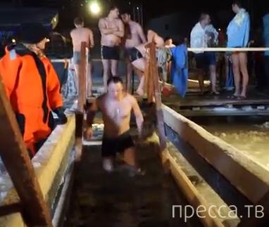 Крещенские купания, Строгино, Москва - 2014