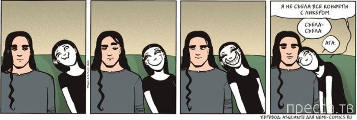 Веселые комиксы и карикатуры, часть 65 (18 фото)