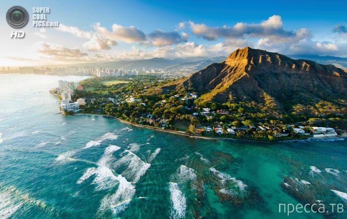 Гавайские острова с высоты птичьего полета... (11 фото)