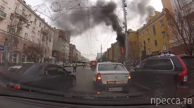 """Пожар в кафе """"Утка по-пекински"""", проспект Мира, г. Красноярск"""