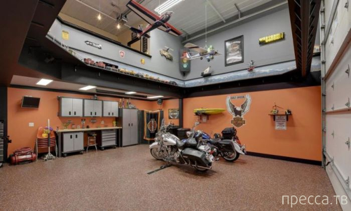 Шикарный гараж - мечта каждого мужчины (22 фото)