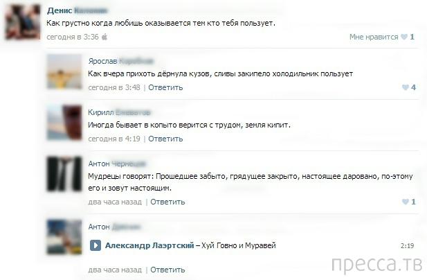 Прикольные комментарии из социальных сетей, часть 17 (53 фото)