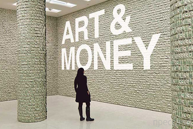 Топ 10: Художники, которые творят деньгами (10 фото)