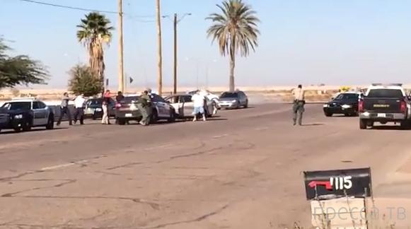Полицейские застрелили безоружного автомобильного вора... штат Аризона, США