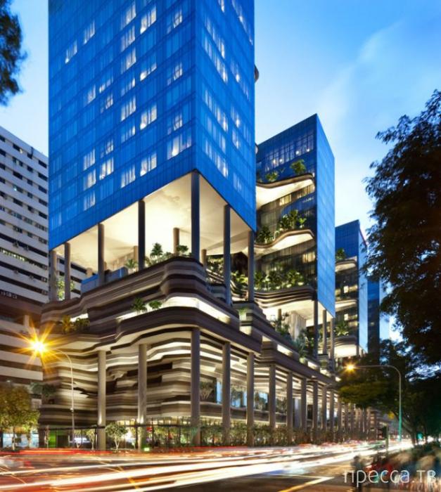 """""""Parkroyal"""" - 12-этажный отель-сад в Сингапуре (10 фото)"""