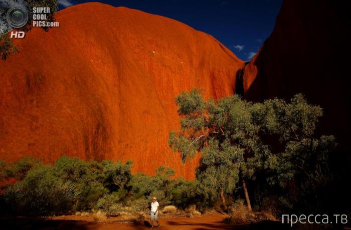 Скала Улуру (Uluru) или Айерс-рок (Ayers Rock) - объект всемирного наследия ЮНЕСКО (12 фото)