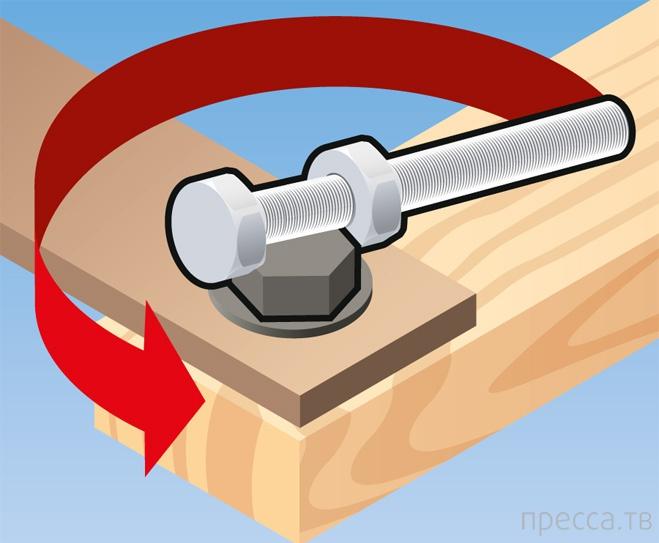Как открутить болт без ключа (3 фото)