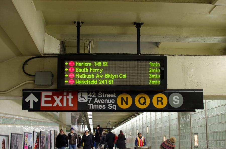 Метро Нью Йорка (13 фото)
