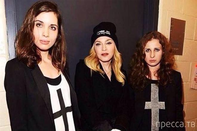 Скандальные Pussy Riot под патронатом Мадонны выдвинули требования Путину (2 фото)