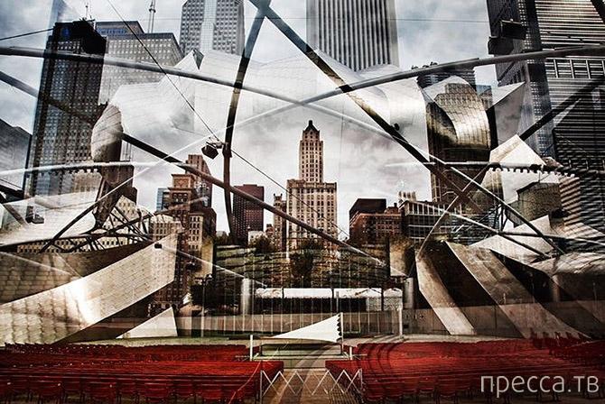 """Необычные виды известных городов мира в проекте """"8 секунд"""" фотографа Николя Рюэля (11 фото)"""