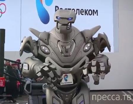 Робот-титан, сделаный из челябинского метеорита, посетил Сочи 2014