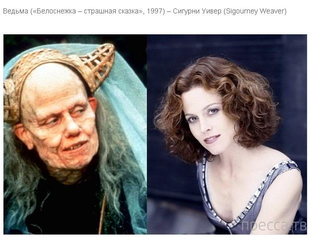 Знаменитые актеры в гриме, а вы их узнали ? (6 фото)